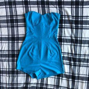 Blue Romper Jumpsuit